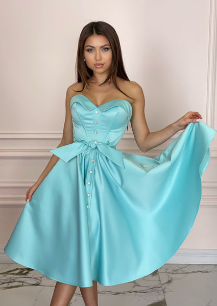 LADY MALLINY AQUA Blue Dress