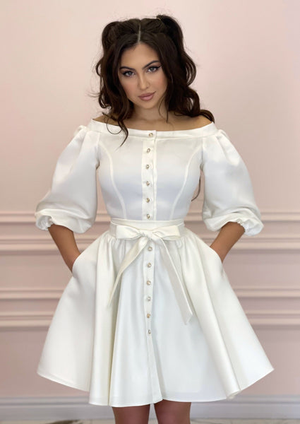 DUCHESS White Dress