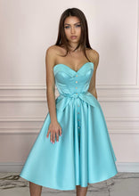 Load image into Gallery viewer, LADY MALLINY AQUA Blue Dress