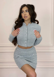 Grey FLUFFY COSY Two-Piece Set