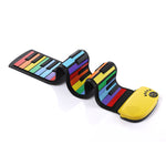 Load image into Gallery viewer, DigitalLfie RP49P2-C Portable Roll Up Electronic 49 Keys Silicone Piano with Speaker