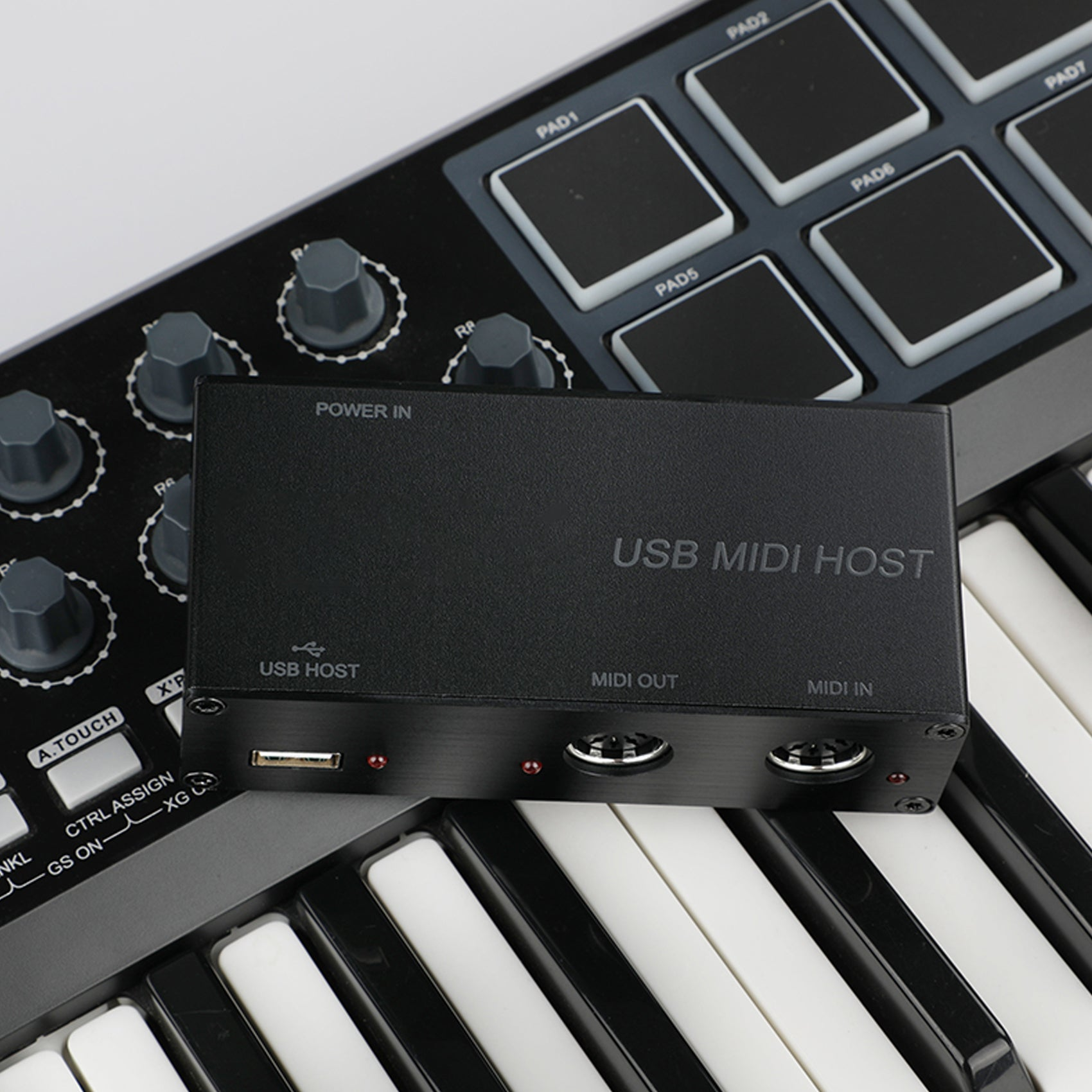 DigitalLife UMH-10 MIDI USB Host (Metal, Black)