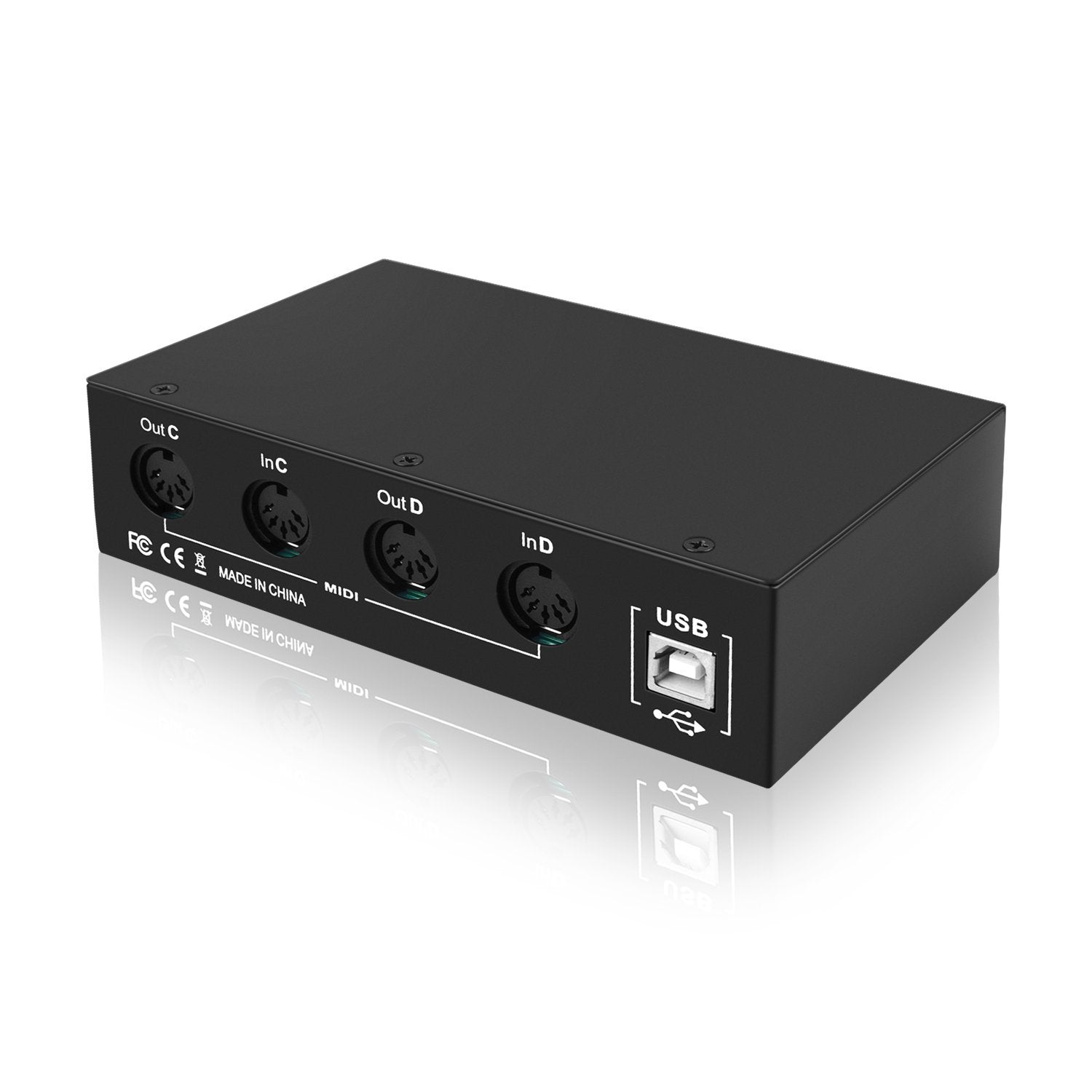 Digitallife MD06 USB MIDI Interface with 1 In 2 Out MIDI Thru - 4in/4out MIDI Interface