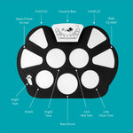 Load image into Gallery viewer, DigitalLife MT010-B Roll Up Drum Kit with Record Function