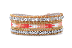 Bessie Leather 3 Wrap Bracelet - Boho Betty