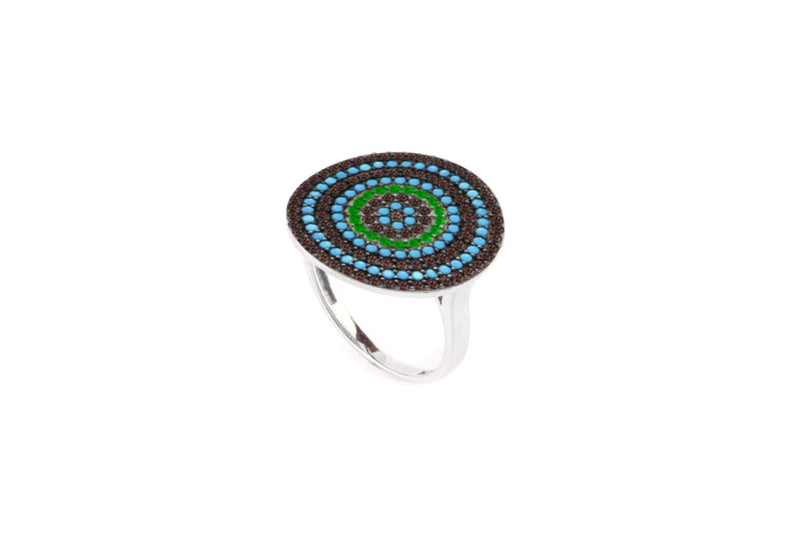 Grande CZ Multi Beaded Ring - Boho Betty