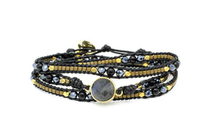 America Midnight Gemstone Wrap Bracelet