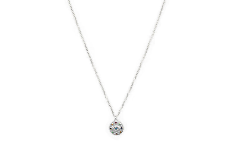 Bramble Silver CZ Evil Eye Necklace - Boho Betty