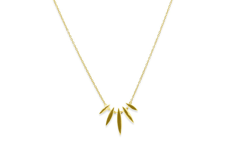 Cognac Gold Multi Spear Necklace - Boho Betty