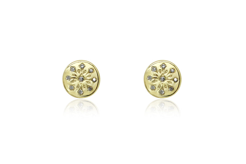 Arnes Gold Stud Earrings