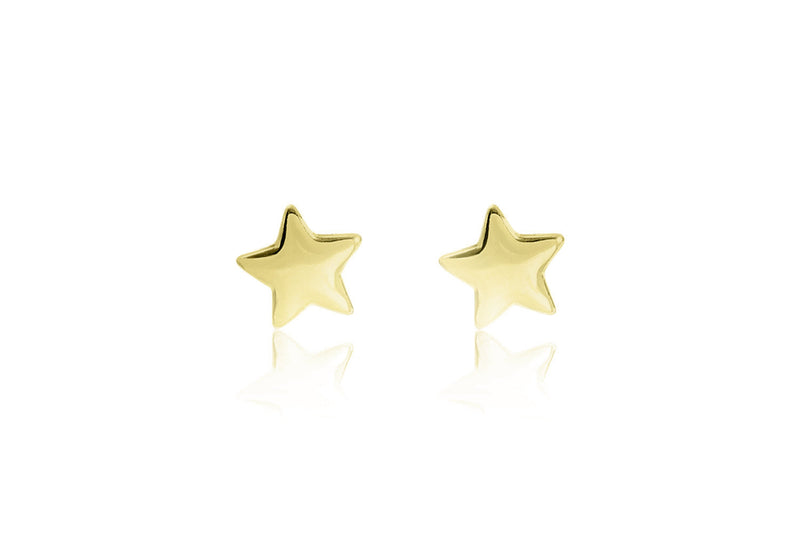 Star Stud Gold Earrings