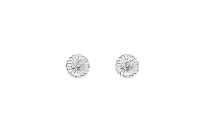 Hillier Silver Earrings Circle Studs - Boho Betty