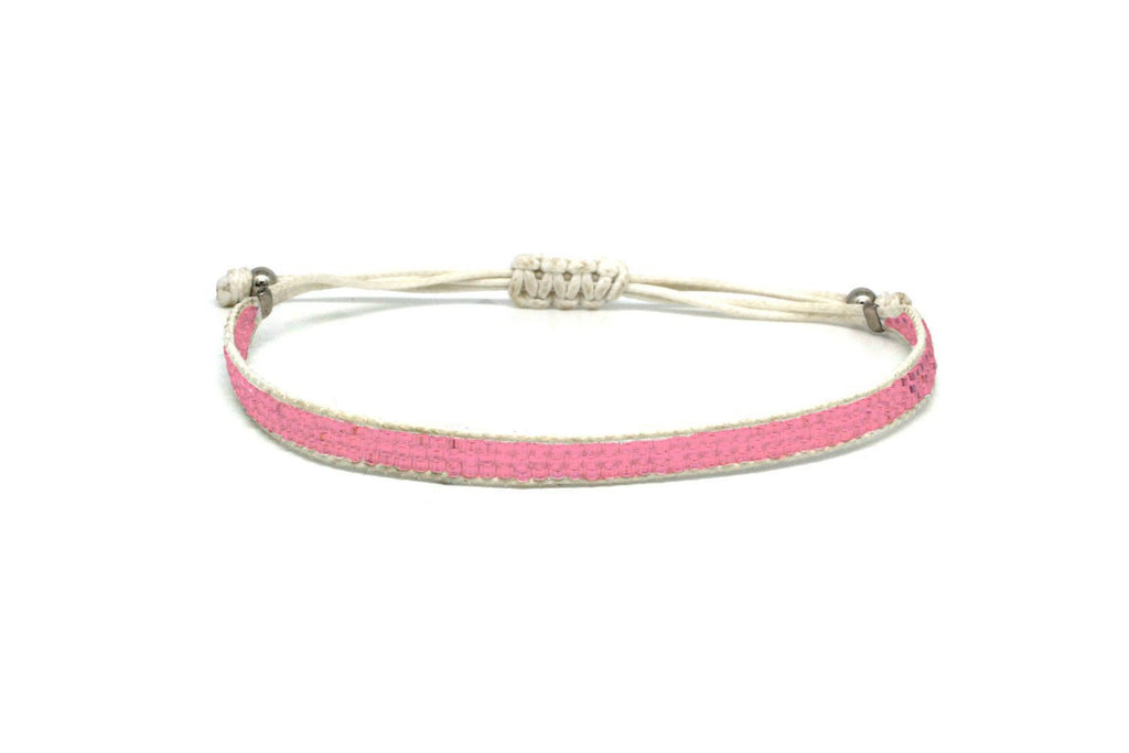 Jive Pink Beaded Friendship Bracelet - Boho Betty