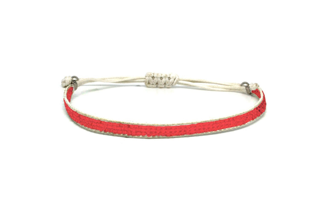 Jive Coral Beaded Friendship Bracelet - Boho Betty
