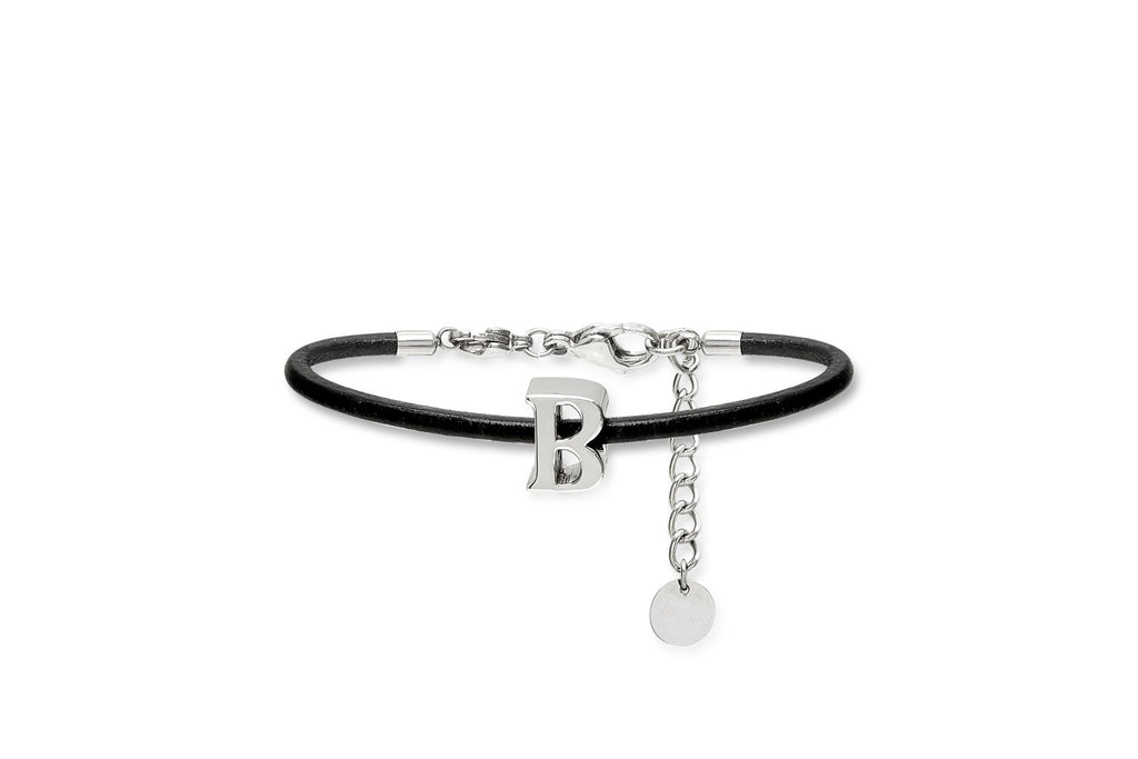Leather Letter Bangle - Boho Betty