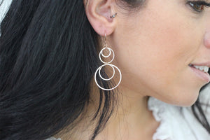 Kerr Rose Gold Multi Circle Earrings - Boho Betty