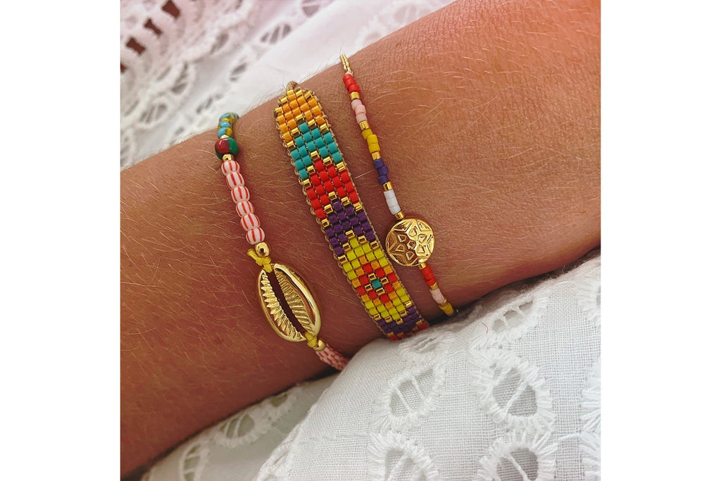 Ontake 3 Layered Bracelet Stack - Boho Betty USA