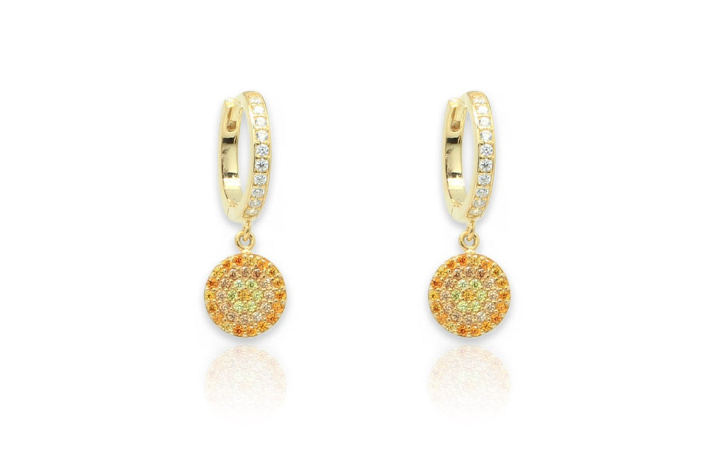 Lovell Amber Gold CZ Drop Earrings - Boho Betty