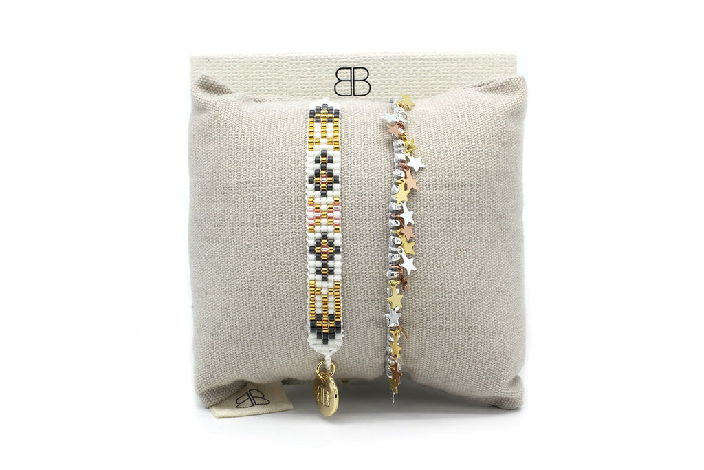 Lunenburg 2 Layered Bracelet Stack - Boho Betty