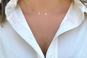 Asti Gold Star Charm Necklace