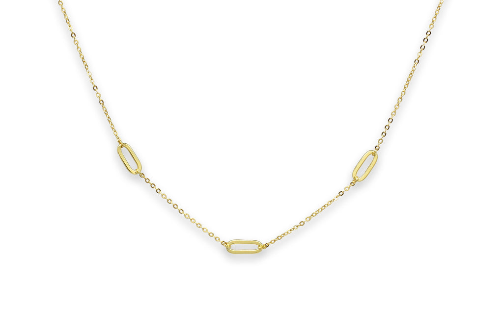 Midori Gold Oval Link Necklace