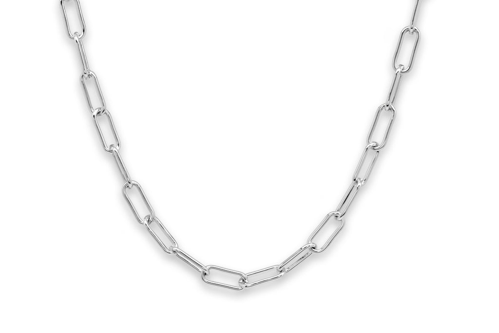 Notus Silver Chunky Chain Medium Length Necklace