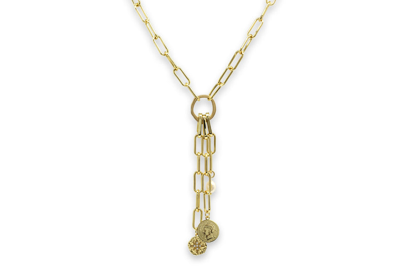 Tana Gold Multi Detachable Pendant Chunky Chain Necklace