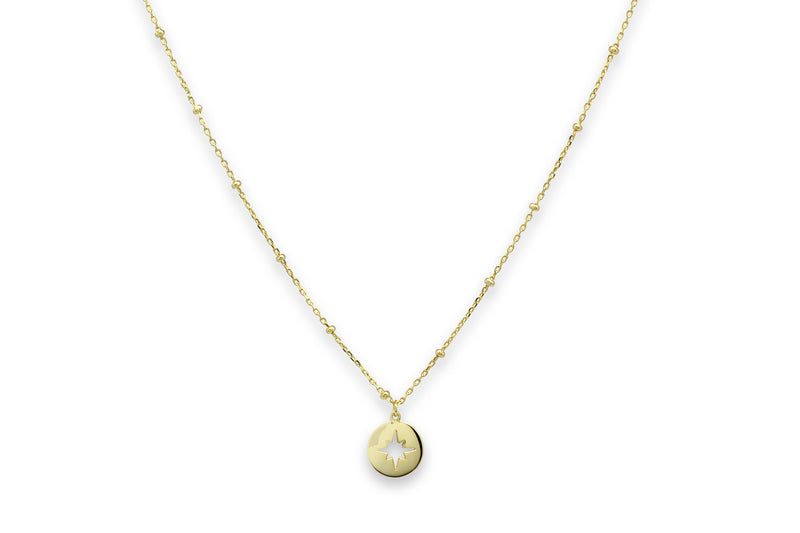 Vermouth Gold Compass Star Necklace