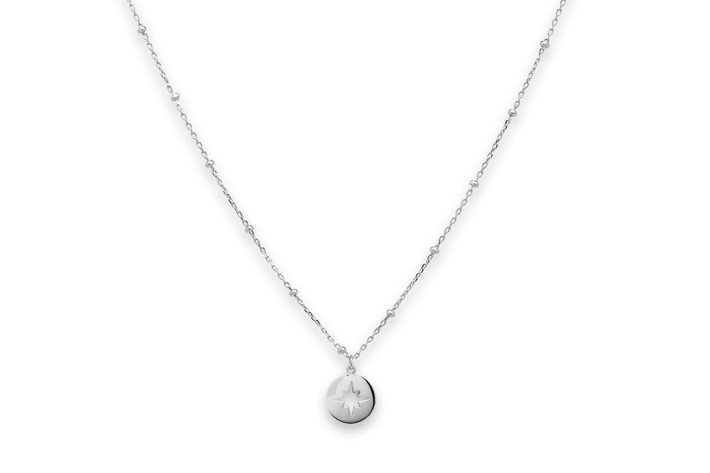 Vermouth Silver Compass Star Necklace