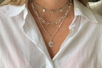 Beira Silver 2 Chunky Chain Layering Necklace Set