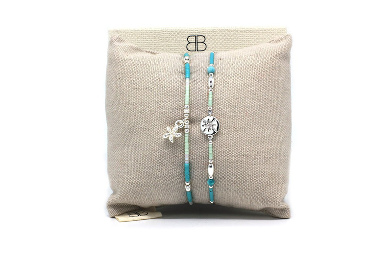 Popahill Mint 2 Layer Bracelet Stack - Boho Betty