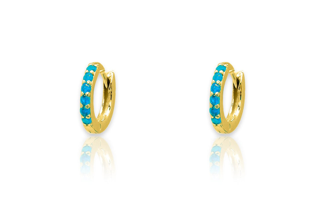 Reddy Gold Huggie Hoop Earrings - Boho Betty