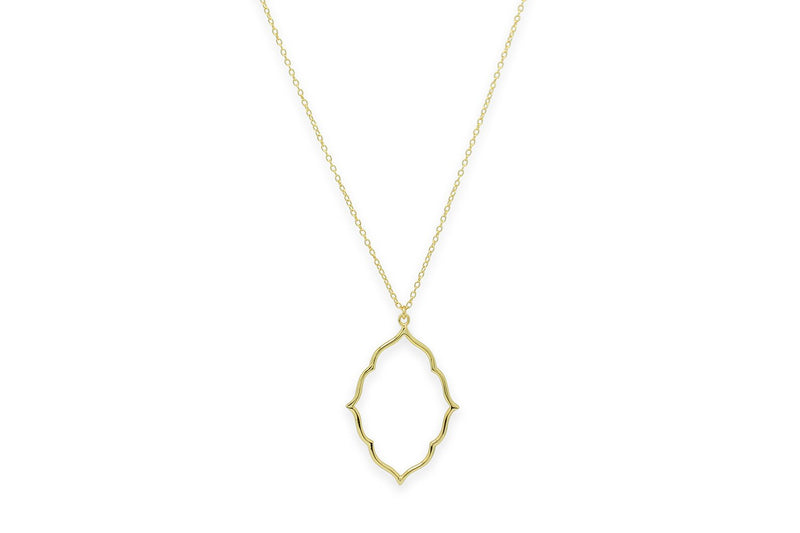 Reviver Gold Oval Necklace - Boho Betty