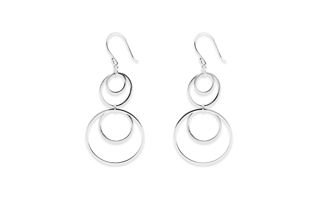 Sim Sterling Silver Multi Circle Earrings - Boho Betty