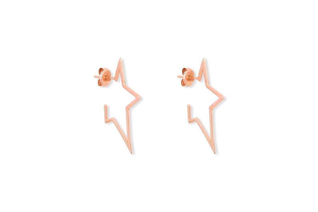 Sorvino Rose Gold Star Stud Earrings - Boho Betty