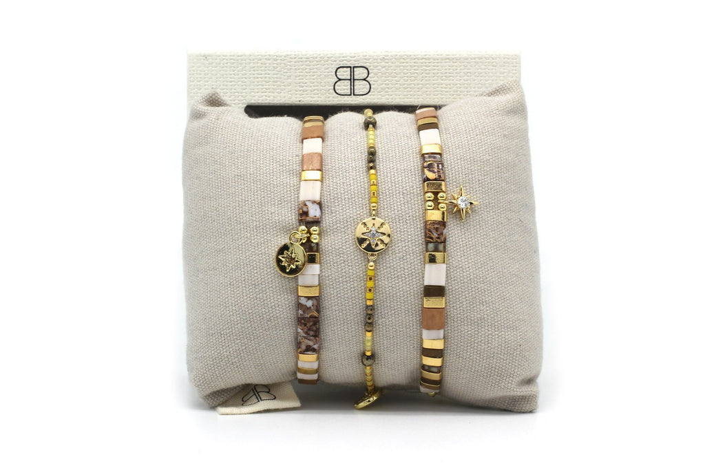Bangkok 3 Layered Bracelet Stack - Boho Betty