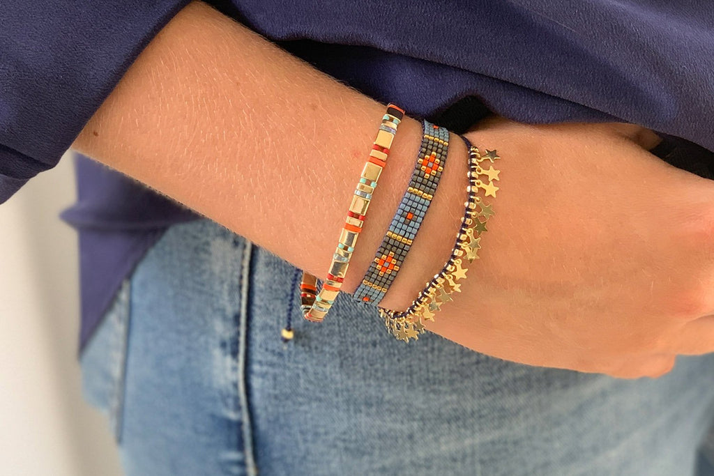 Heraklion Multicolour 3 Layered Bracelet Stack