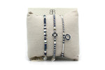 Jakarta Navy 3 Layered Bracelet Stack - Boho Betty