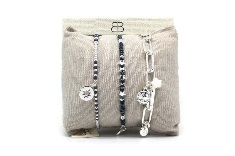 Lima 3 Layered Bracelet Stack - Boho Betty
