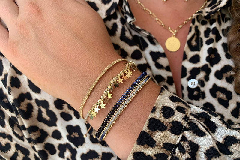 Riyadh Gold 3 Layered Bracelet Stack