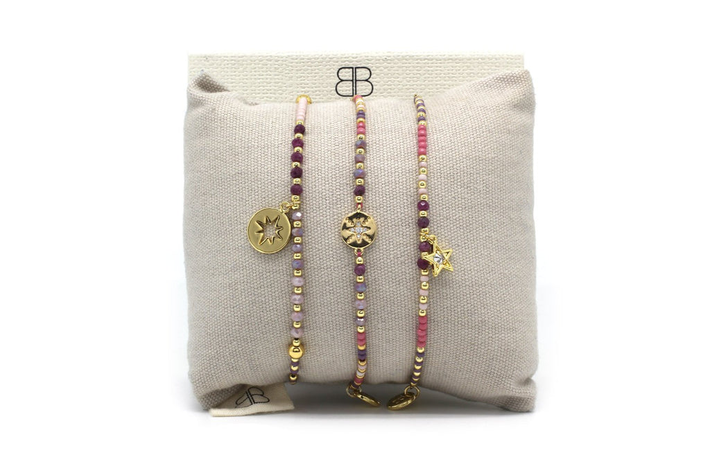 Tavira 3 Layered Bracelet Stack - Boho Betty