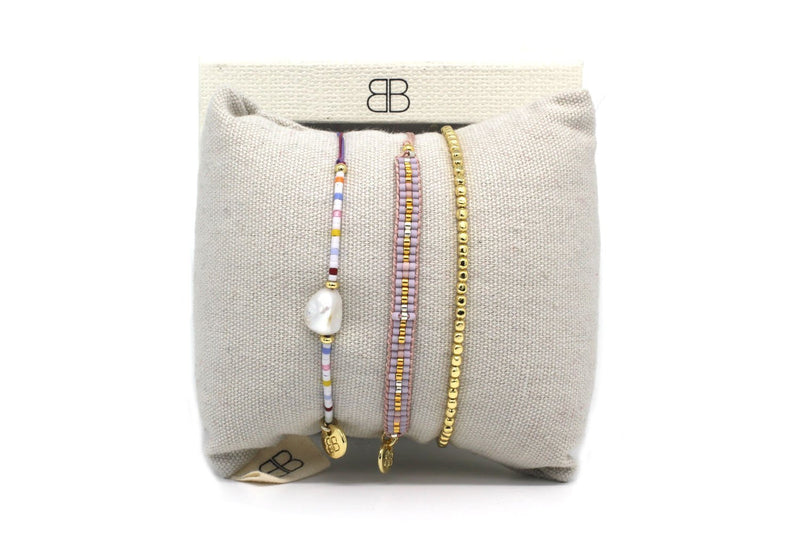 Padua 3 Layered Bracelet Stack - Boho Betty