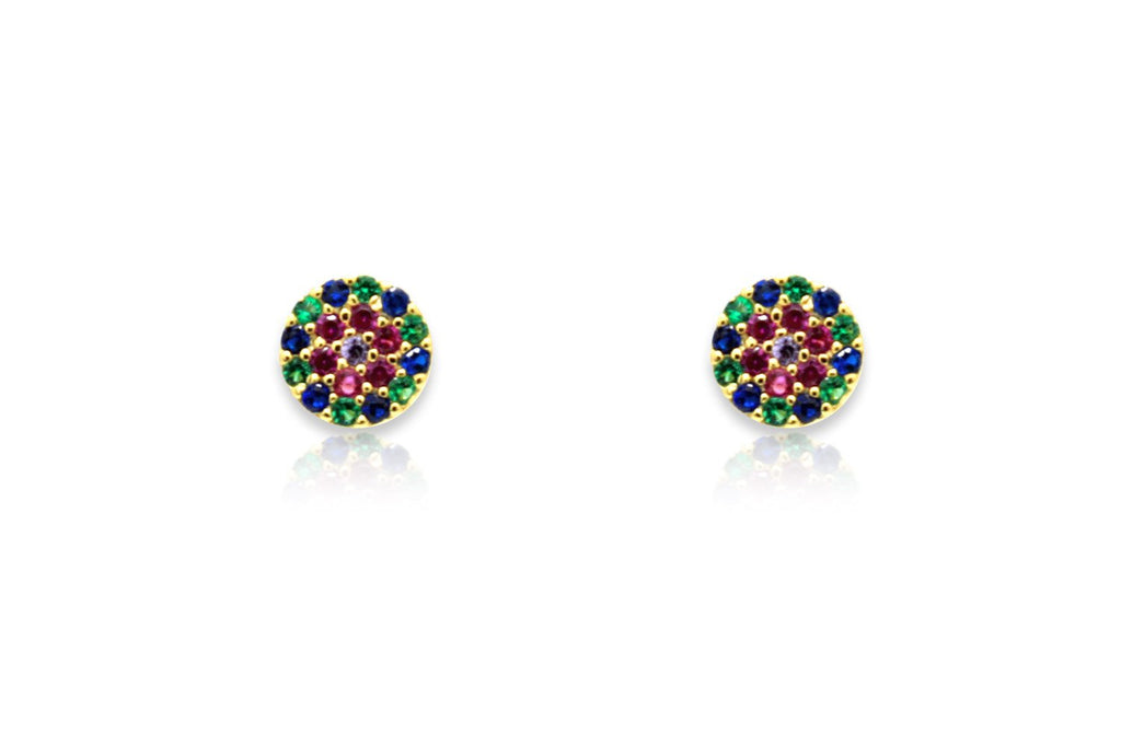Teles Gold CZ Stud Earrings - Boho Betty USA
