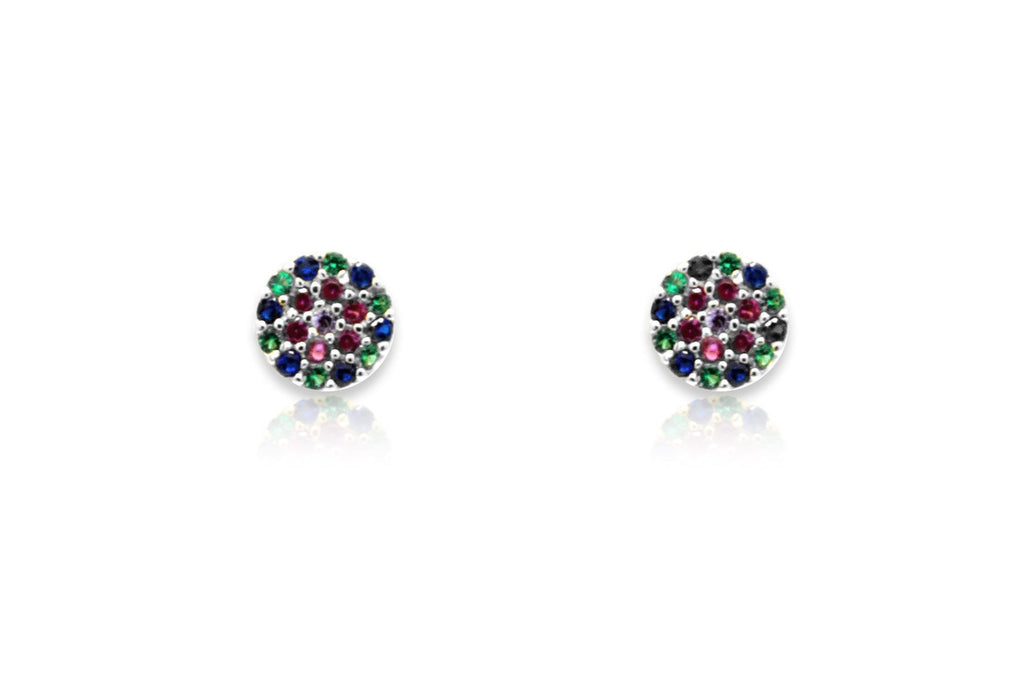 Teles Silver CZ Stud Earrings - Boho Betty USA