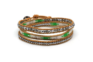 Abbey Lincoln Leather 3 Wrap Bracelet - Boho Betty