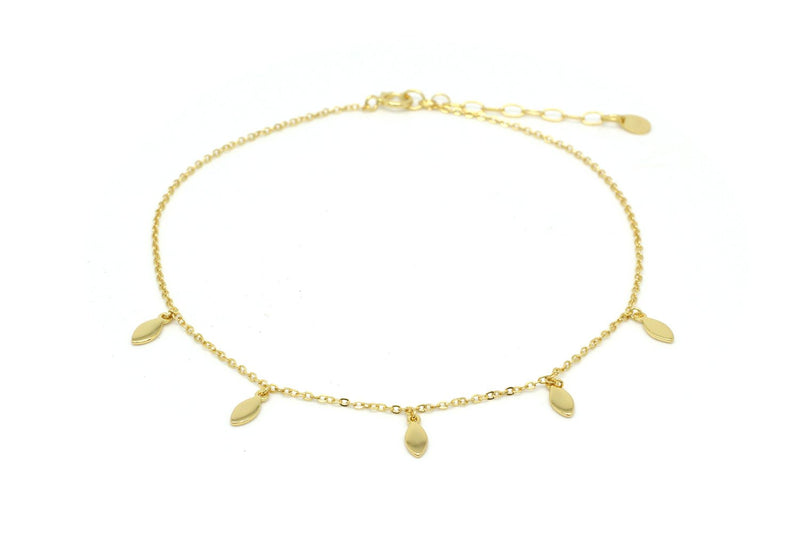 Lohan Gold Cowrie Shell Anklet - Boho Betty