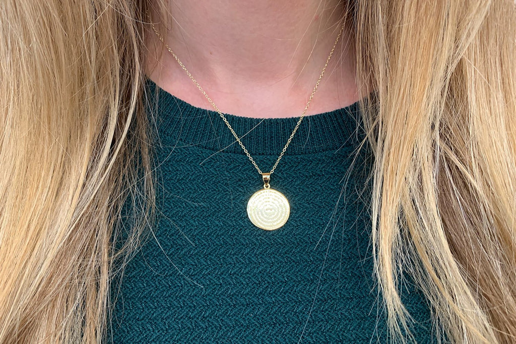 Mini Atlantic Gold Sterling SilverDisc Necklace - Boho Betty