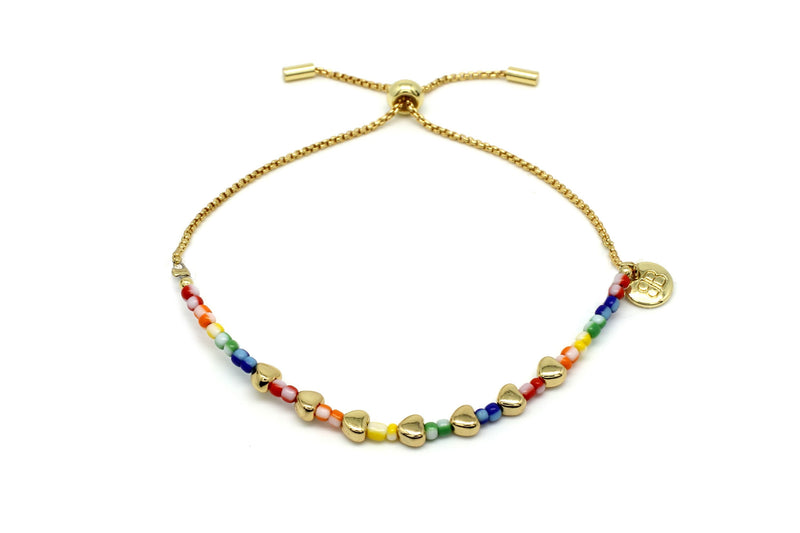 Angel Hearts Multicolour Bracelet - Boho Betty