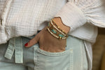 Matira Aqua Beaded Friendship Bracelet - Boho Betty
