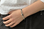 Salema Black & Silver Bracelet Duo - Boho Betty